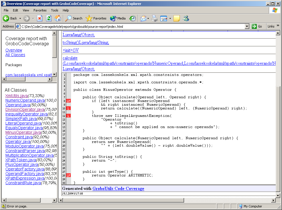 JavaRanch Journal - January 2004 - Introduction to Code Coverage