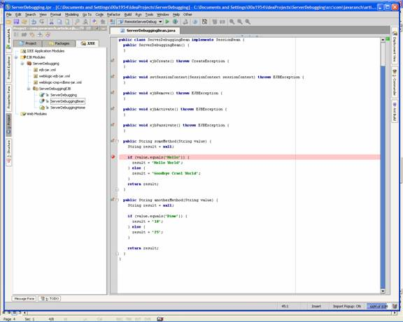 Debugging Server-side code through IntelliJ IDEA