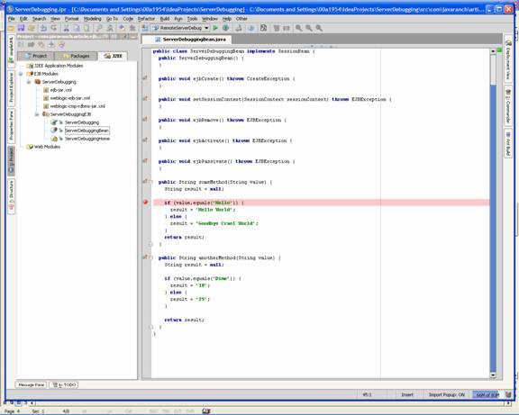Debugging Server-side code through IntelliJ IDEA